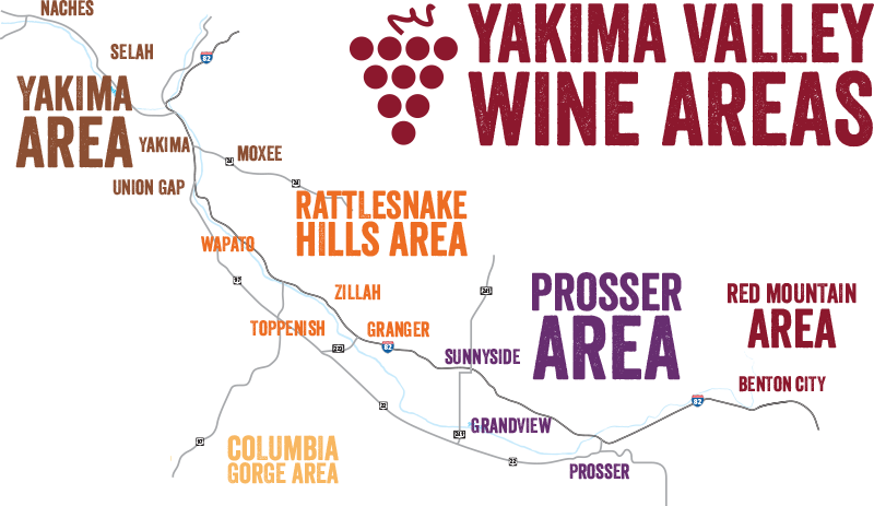 Yakima Valley Wine Tasting Areas